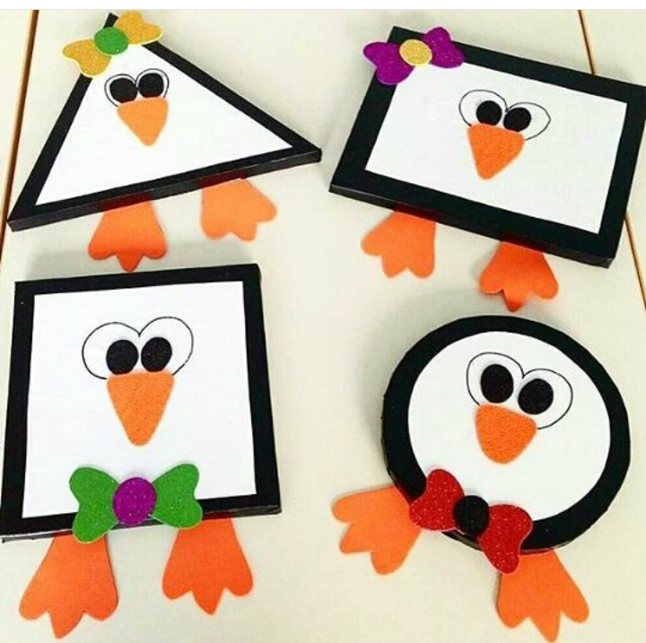 shapes craft ideas penguin shape craft 171 preschool and homeschool 2912