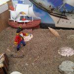 Pirate themed sensory play