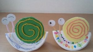 plastic plate snail crafts (1)