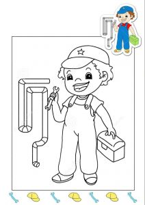 plumber-coloring-page