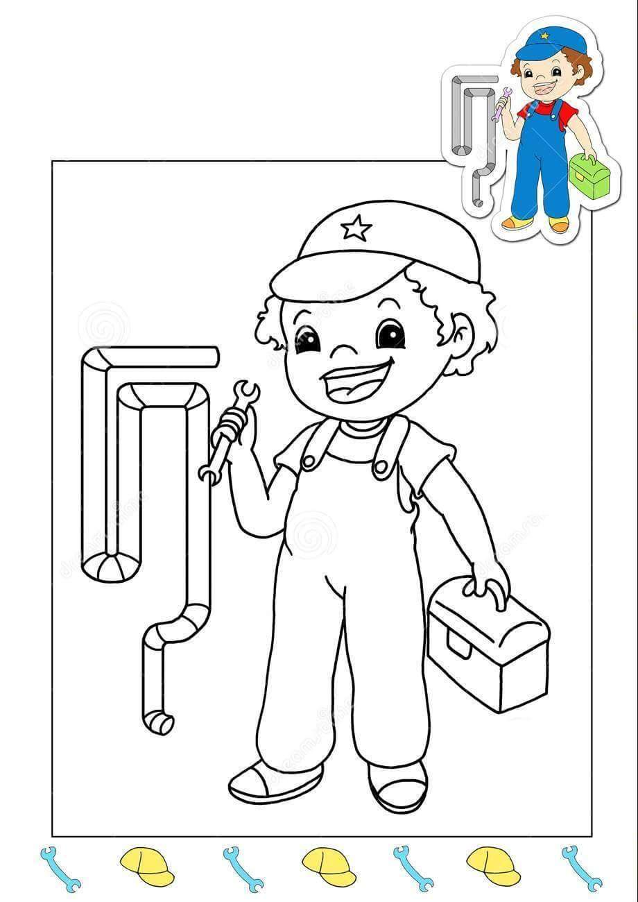 plumbercoloringpage 171 preschool and homeschool
