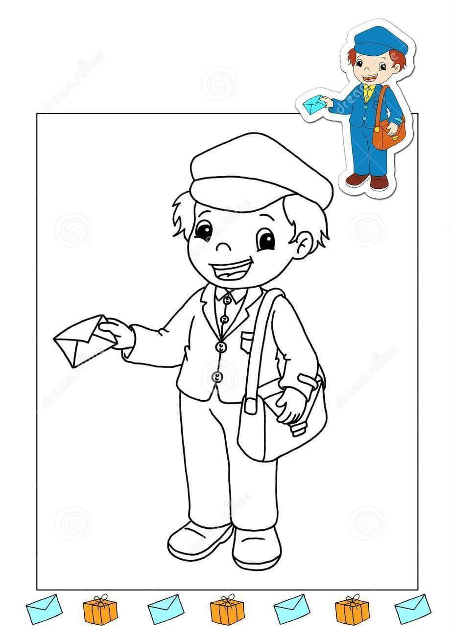 Postman Coloring Coloring Coloring Pages