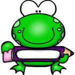 Frog name tag printables