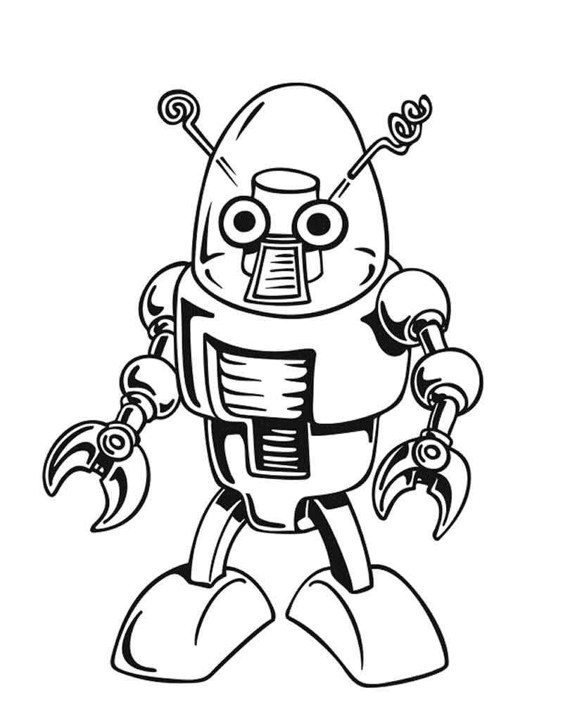 Robot Coloring Pages For Kids 1 Funnycrafts Coloring Pages Robot