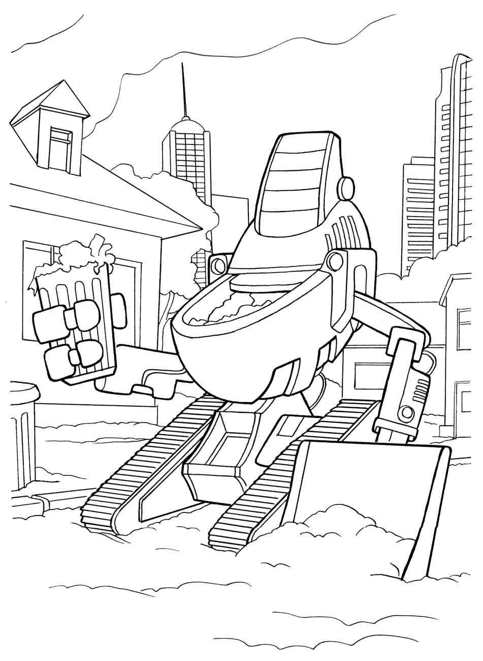 preschool robot coloring pages - photo#28