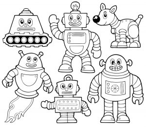 86 robot coloring pages rodney playing saxophone in