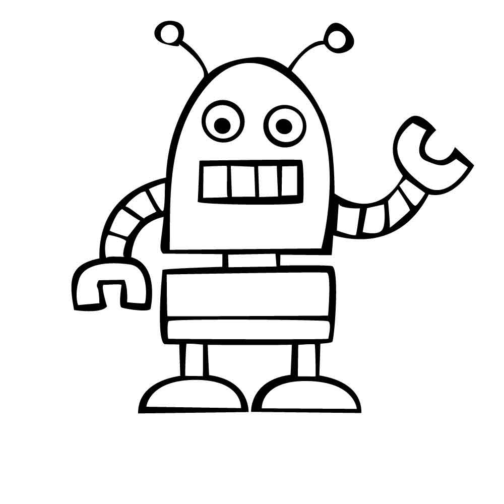 preschool robot coloring pages - photo#9