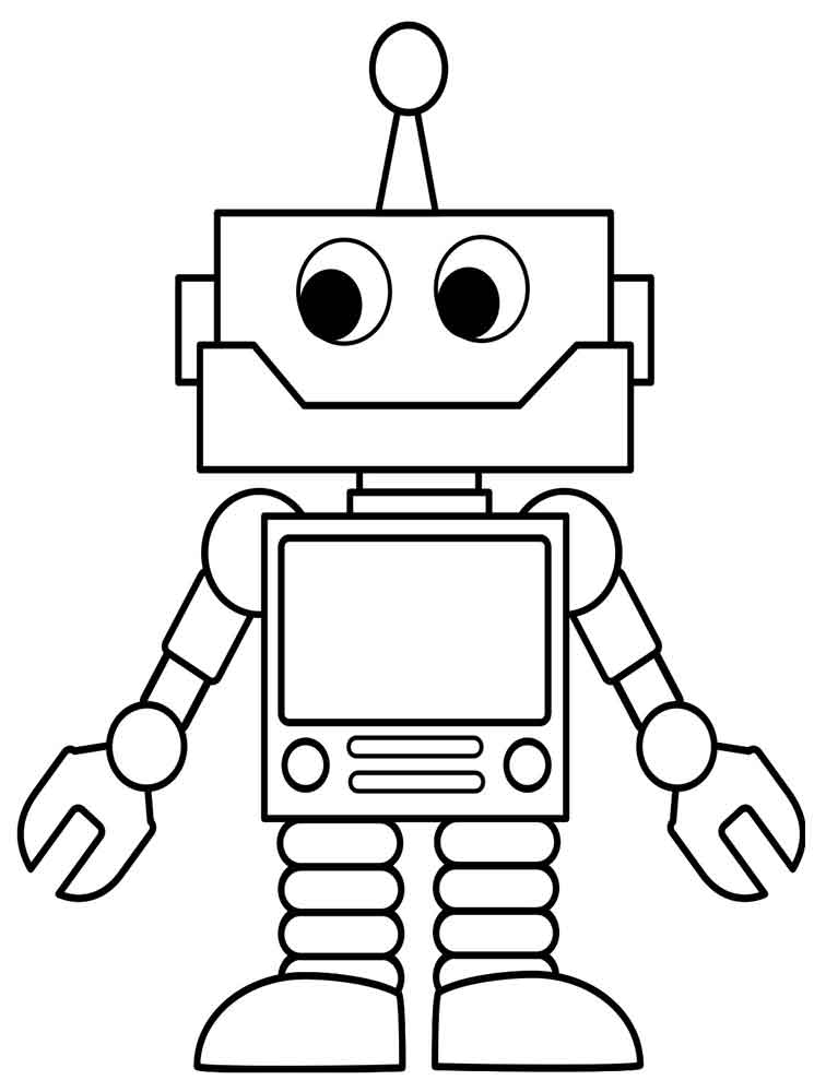 Robot coloring pages for kids 3 preschool and homeschool for Robot coloring page