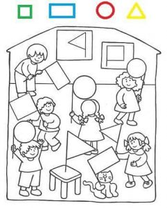 school shapes coloring page