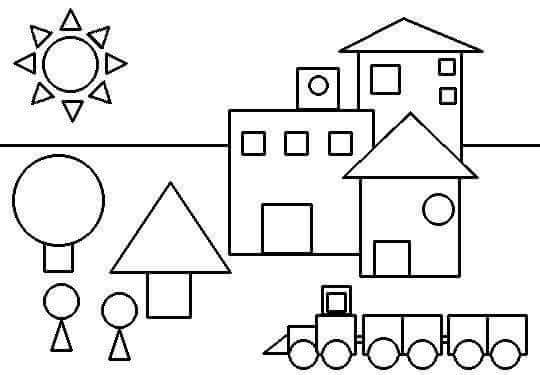 coloring pages and shapes | shapes coloring page « Preschool and Homeschool