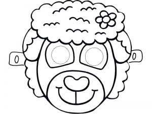 sheep-mask-tamplate