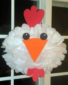 tissue paper cock craft