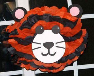 tissue paper tiger craft