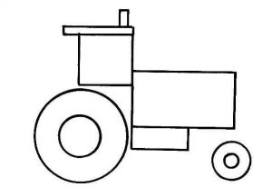 tractor shapes coloring page