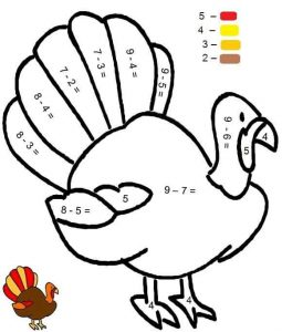 turkey-subtraction-color-by-number