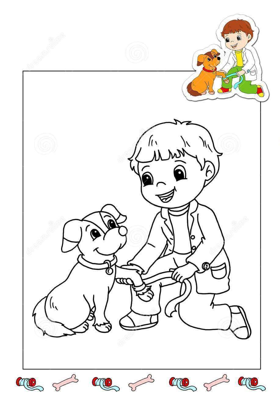 veterinarian office coloring pages - photo#8