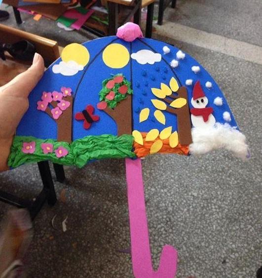 3dumbrellacraftsforrainday4 Preschool and Homeschool