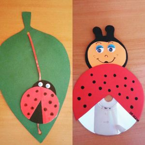cd-ladybug-craft