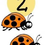 Number flash cards 1 to 10 with animals