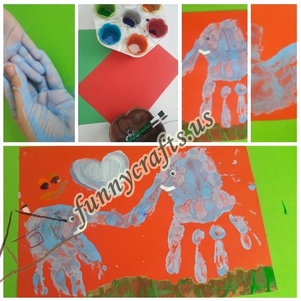 Photo of Handprint elephant art