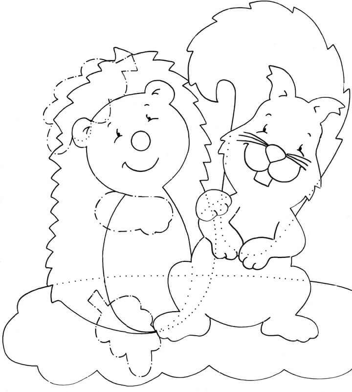 coloring pages fall animals images - photo#9