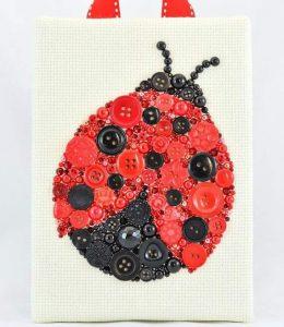 button-ladybug-craft