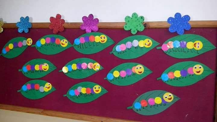 Caterpillar Bulletin Board Idea on Name Writing For Pre K
