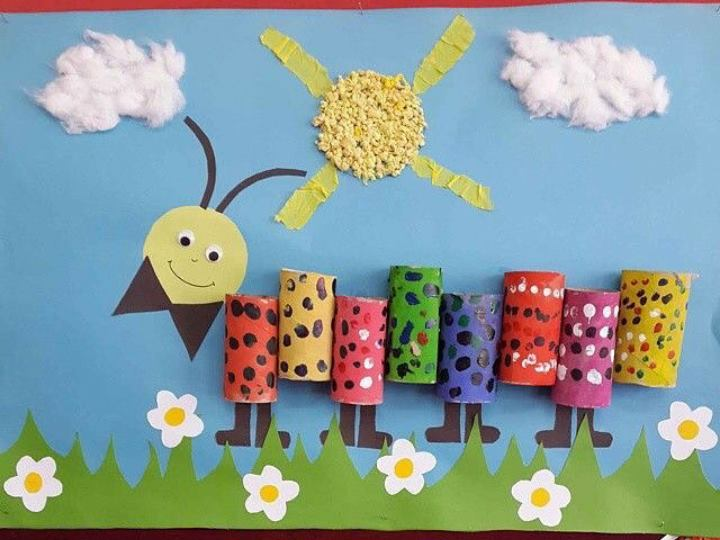 Classroom Wall Decoration For Preschool : Caterpillar wall decoration � preschool and homeschool