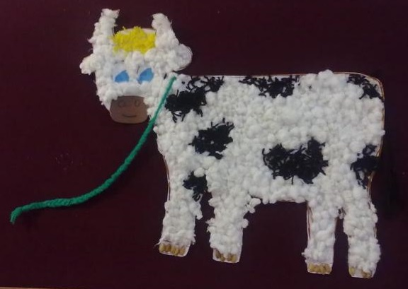 Cotton Ball Crafts And Activities For Kids Cow