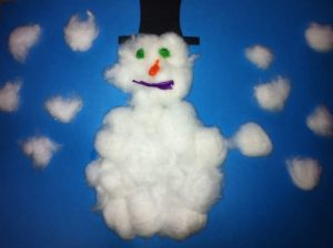 cotton-ball-snowman-crafts-for-preschool