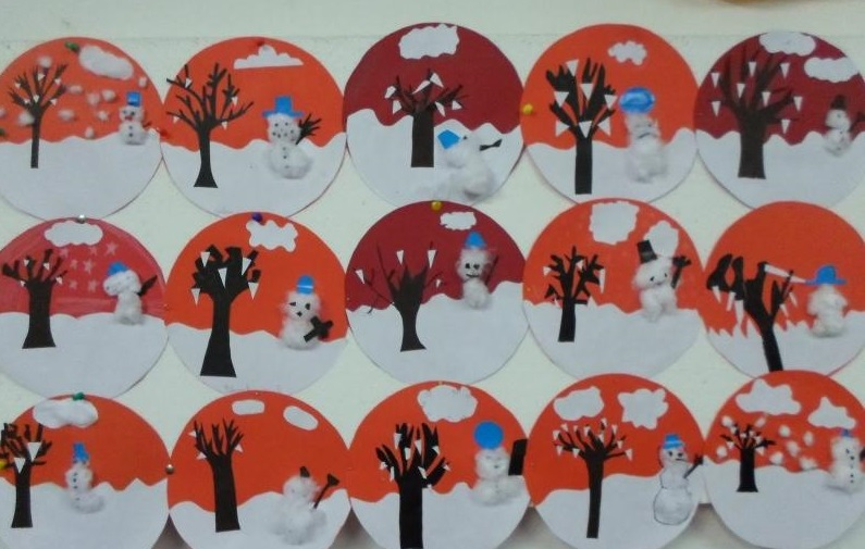 Snow globe craft writing alphabet