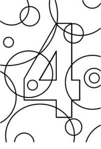 creative-number-4coloring-pages