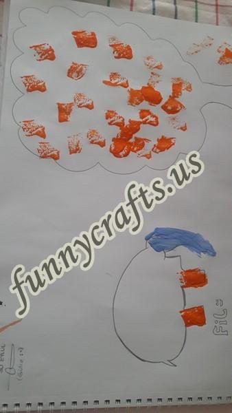 Sponge Printing For Kindergarten Art Activities Funny Crafts