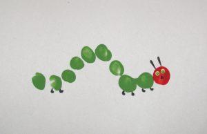 fingerprint-caterpillar-art