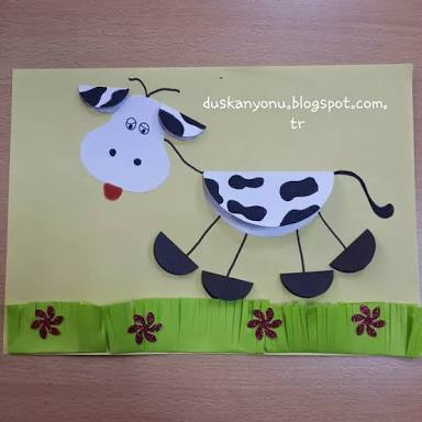 folding-paper-cow-craft
