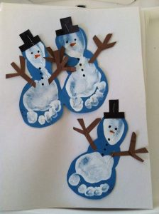 footprint-snowman-art