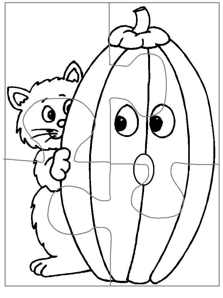 Piece Puzzle Template Coloring  Coloring Pages