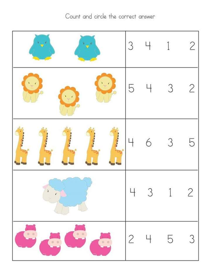 Pre Kindergarten Math Worksheets : Free preschool kindergarten simple math worksheets