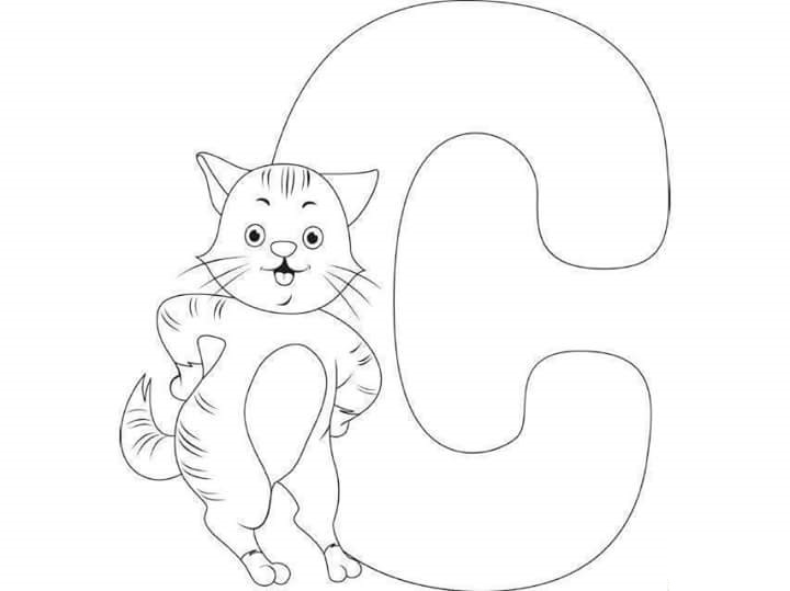 Free Printable Letter Coloring Pages For Kids C Cat