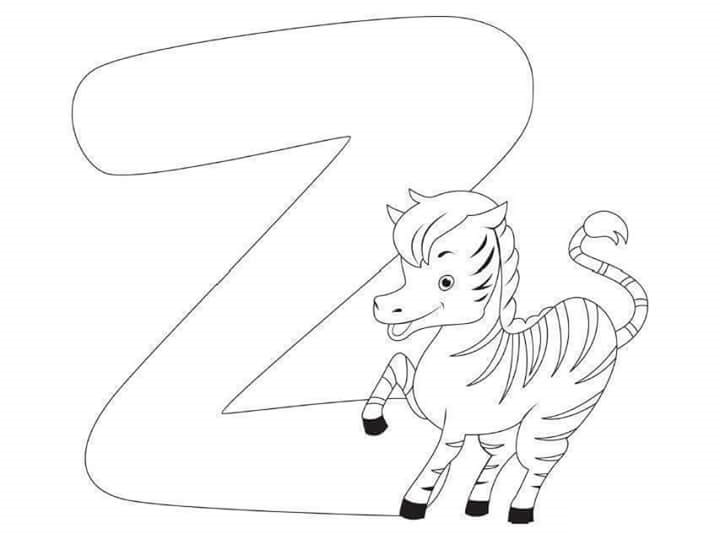 Free Printable Letter Coloring Pages For Kids Z Zebra