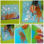 Handprint crab art