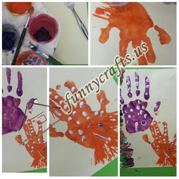 Photo of Handprint fish art