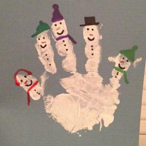 handprint-snowman-art
