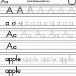 Alphabet handwriting worksheets A to Z for preschool to first grade