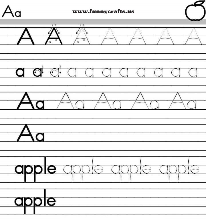 letter a handwriting worksheets for preschool to first grade preschool and homeschool. Black Bedroom Furniture Sets. Home Design Ideas