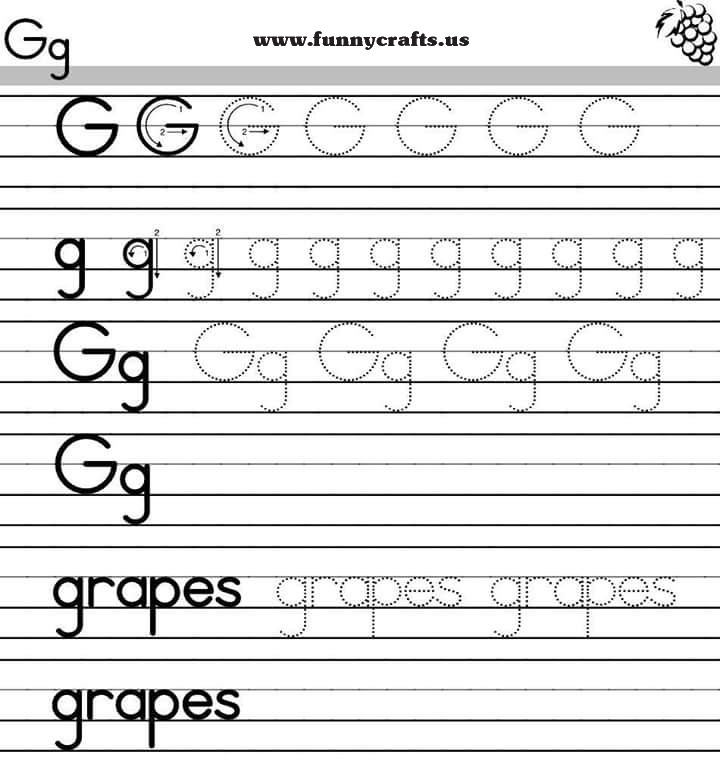 letter g handwriting worksheets for preschool to first grade preschool and homeschool. Black Bedroom Furniture Sets. Home Design Ideas