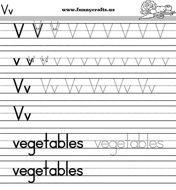 letter v handwriting worksheets for preschool to first grade preschool and homeschool. Black Bedroom Furniture Sets. Home Design Ideas