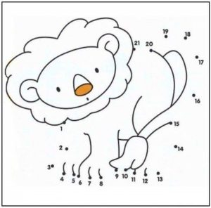 lion-dot-to-dot-coloring-pages