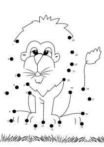 lion-dot-to-dot-printable-worksheets