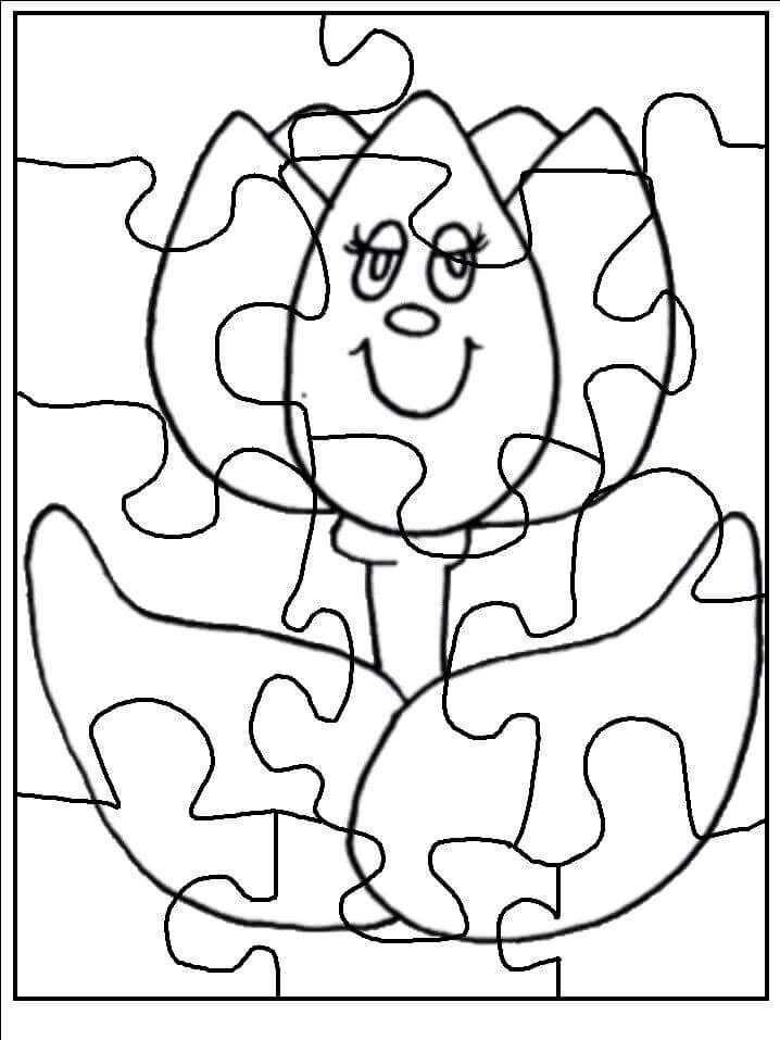 It is an image of Astounding Puzzle Coloring Pages